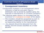 common forms of off balance sheet finance1