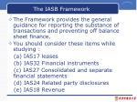 the iasb framework