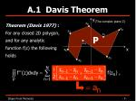 a 1 davis theorem