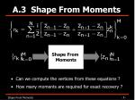a 3 shape from moments