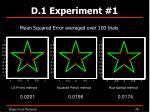 d 1 experiment 11
