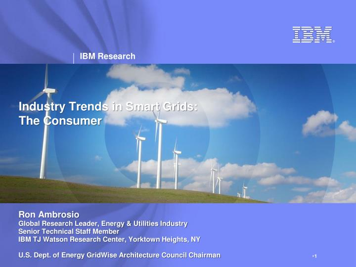 industry trends in smart grids the consumer n.