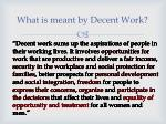 what is meant by decent work