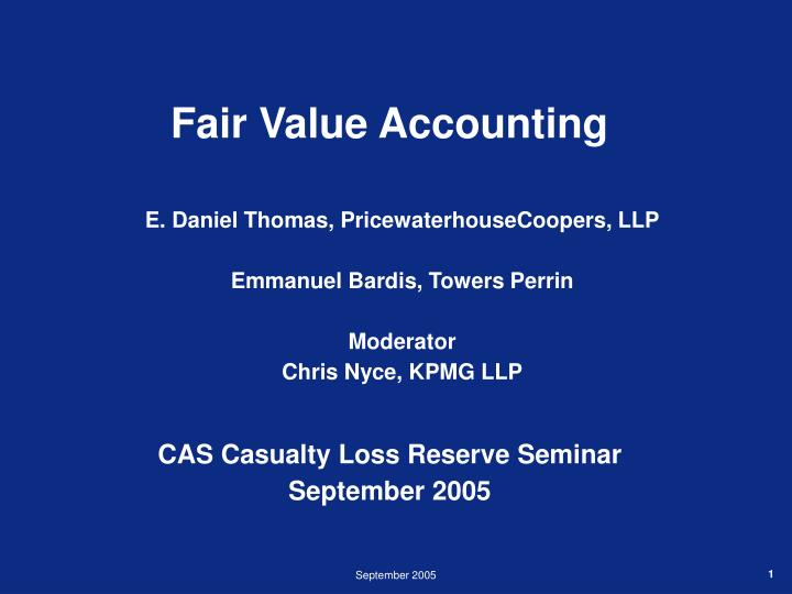 fair value accounting n.