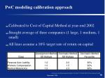 pwc modeling calibration approach