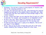 decoding requirements