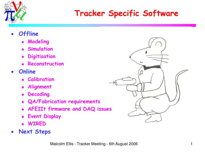 tracker specific software n.
