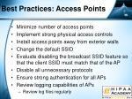 best practices access points