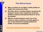 the ethical issue