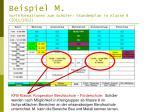 beispiel m vorinformationen zum sch ler stundenplan in klasse 8 2011 2012