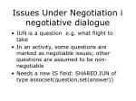issues under negotiation i negotiative dialogue