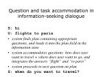 question and task accommodation in information seeking dialogue