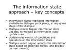 the information state approach key concepts
