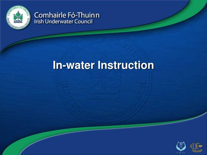 in water instruction n.