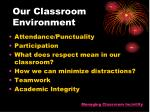 our classroom environment