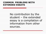 common problems with extended essays7