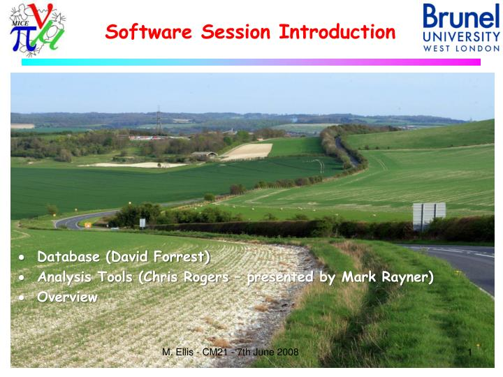 software session introduction n.