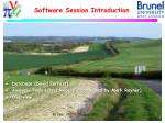 software session introduction