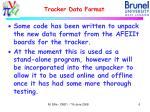 tracker data format