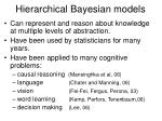 hierarchical bayesian models1