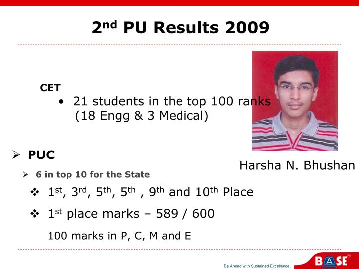 2 nd pu results 2009 n.