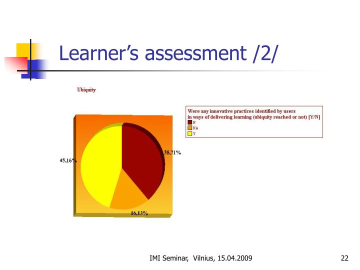 Learner's assessment /2/