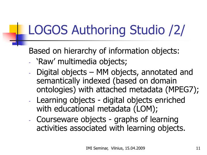 LOGOS Authoring Studio /2/