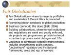 fair globalization