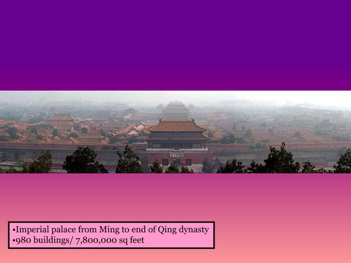 Imperial palace from Ming to end of Qing dynasty