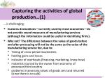 capturing the activities of global production 1