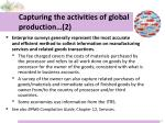capturing the activities of global production 2