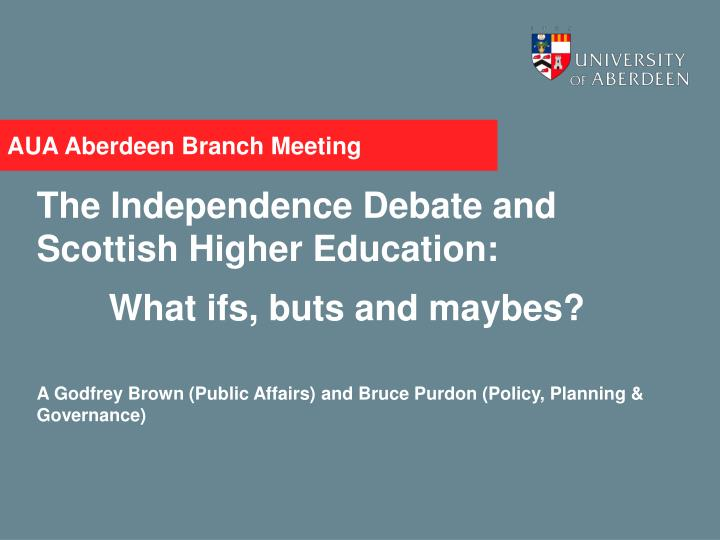 aua aberdeen branch meeting n.