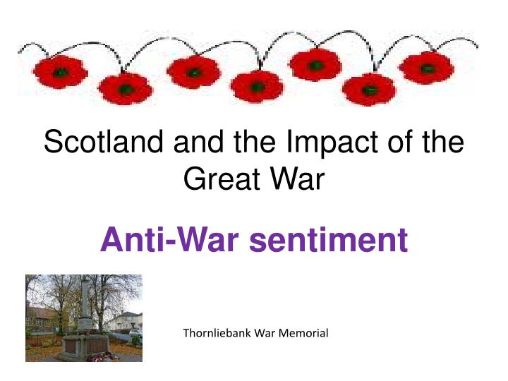 scotland and the impact of the great war n.