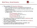 model theory normal semantics