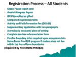 registration process all students