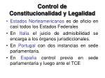 control de constitucionalidad y legalidad