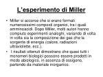 l esperimento di miller1