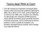 teoria degli rna di cech