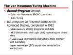 the von neumann turing machine