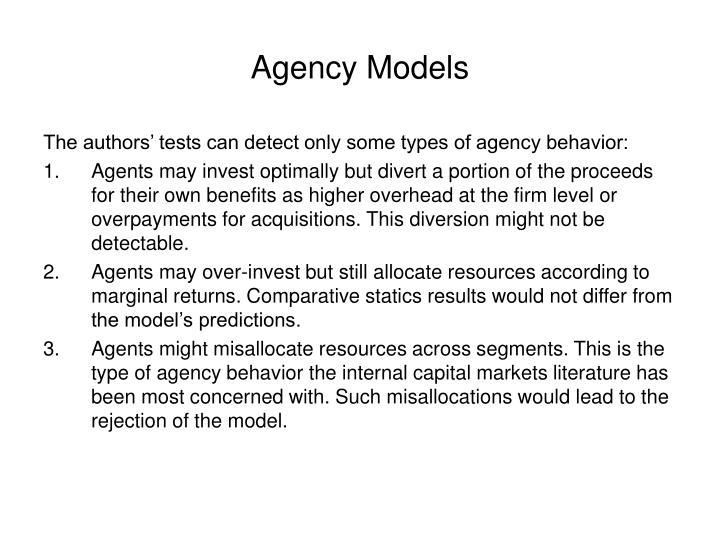 Agency Models