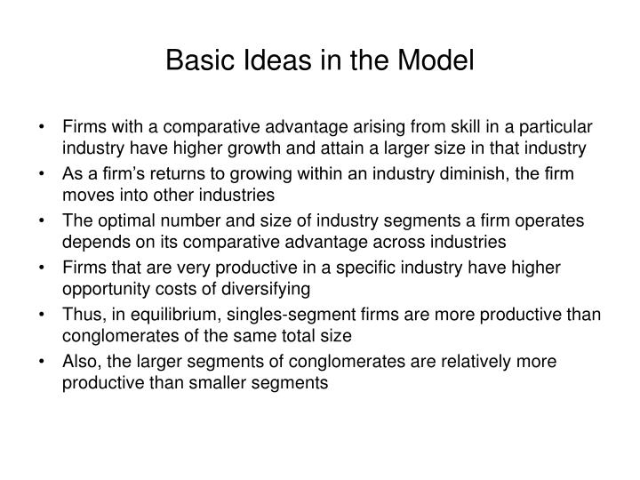 Basic Ideas in the Model