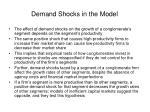 demand shocks in the model