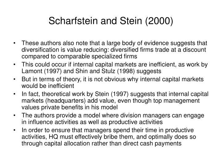 Scharfstein and Stein (2000)