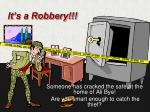 it s a robbery