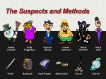 the suspects and methods