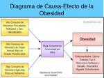 diagrama de causa efecto de la obesidad