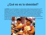 qu es es la obesidad