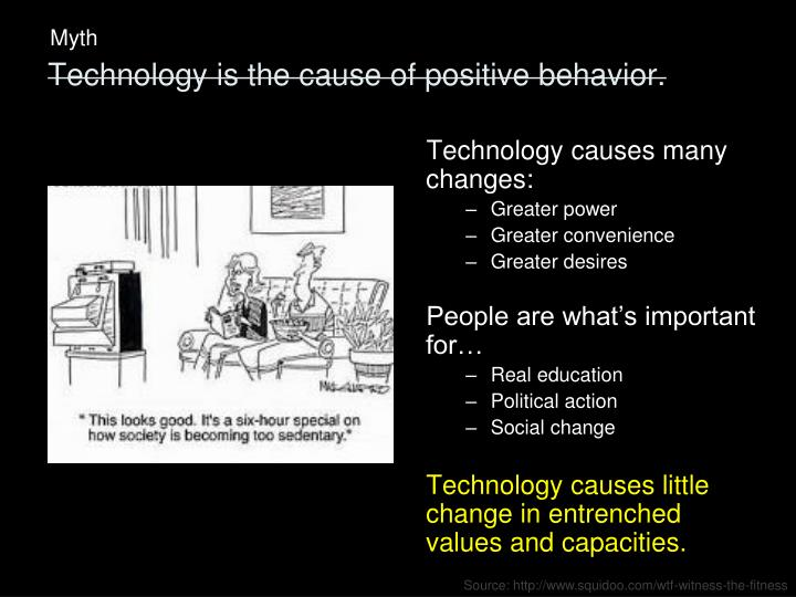 Technology causes many changes: