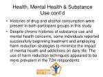 health mental health substance use cont d