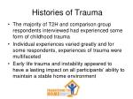 histories of trauma